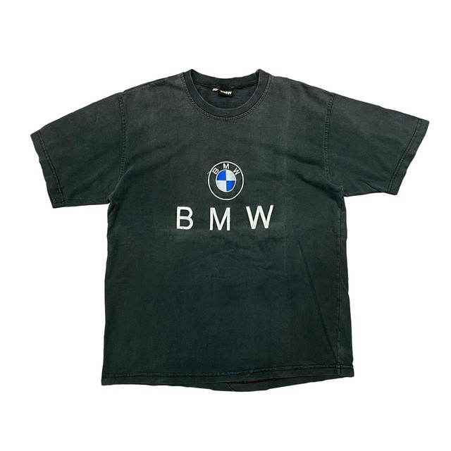 BMW OFFICIAL EMBROIDERY LOGO TEE BLACK FIT LIKE LARGE 6843