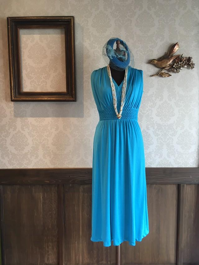 50'S スカイブルー ドレス
