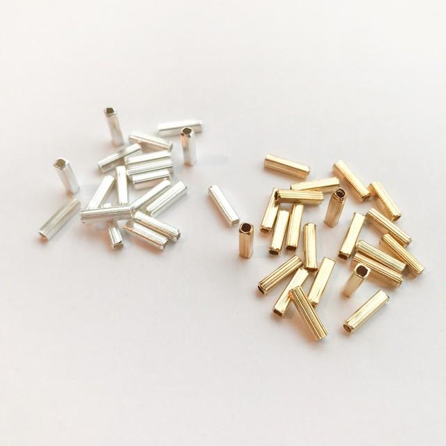 インド真鍮竹ビーズパック(8mm/50p)