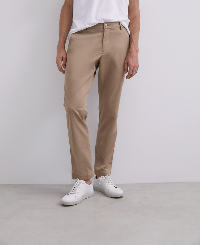 ELASTIC COTTON CHINO TROUSERS [168561259311]