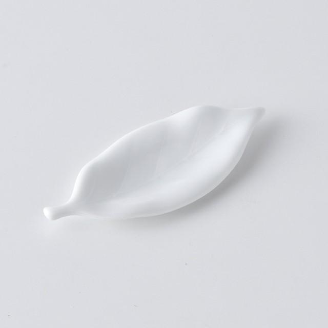 リーフ箸置き・白