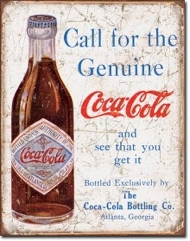 1918【ブリキ】 アメリカンインテリアサインボード  コカコーラ 【ティンプレート】
