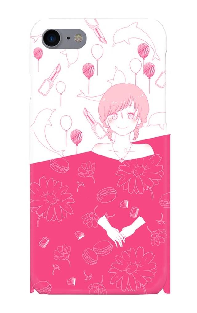 iPhone7スマホケース pink