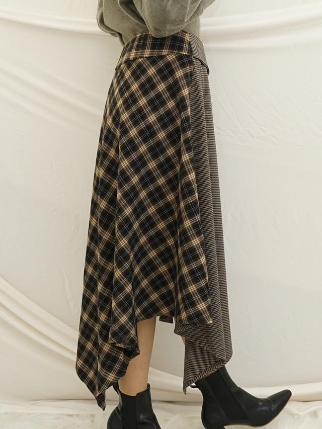 衿付きアシメスカート