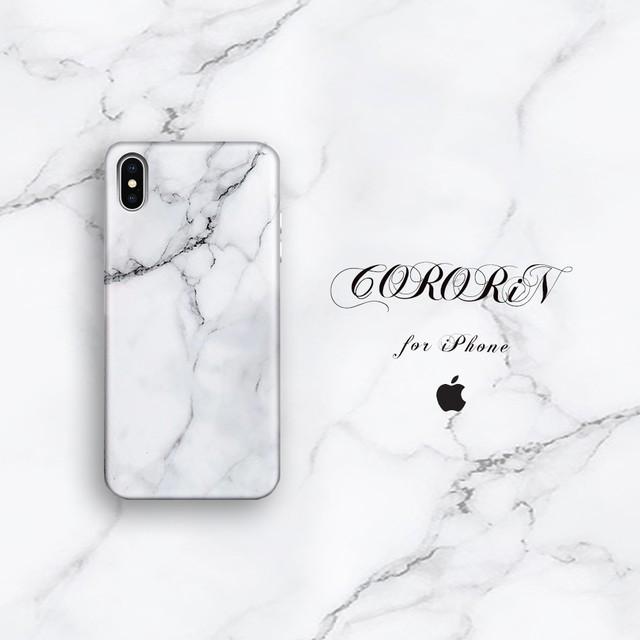 【iPhone12シリーズ/SE2対応】ユニセックスもOK<ブラック×ホワイトケース>大理石風マーブルデザインケース (SPCa0044-1WB)◆スマホケース/iPhoneケース