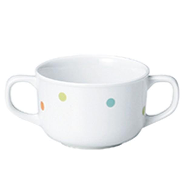 【1911-1080】強化磁器 8.4cm 両手つきカップ ぴこ