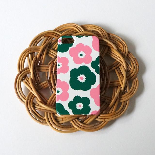 ハード型スマホケース popy ( deep green × pink )【iPhone/Android 各機種対応】