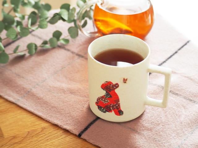 『温感マグ』『プードル』『チタン白マット』*温度をデザインに カワイイ 犬好き マグカップ 贈り物 プレゼント