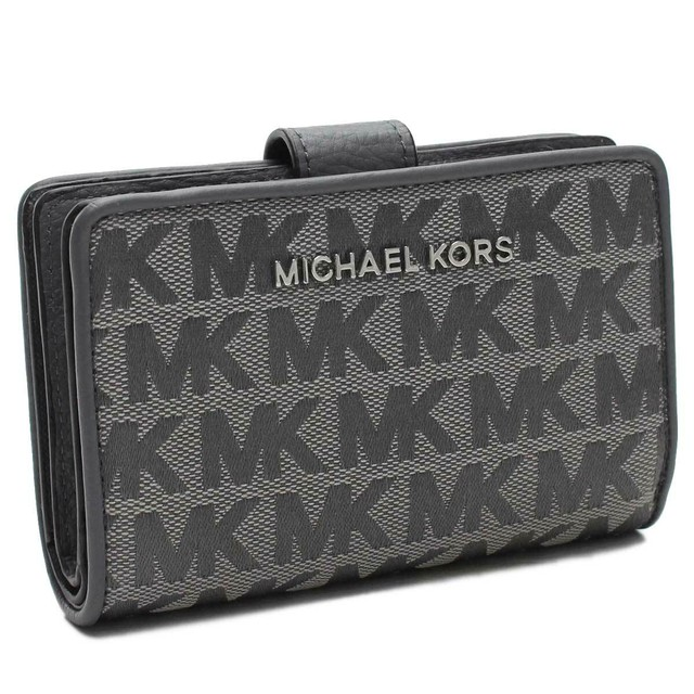buy online 83e35 2aa23 マイケルコースアウトレット MICHAEL KORS(OUTLET) 2つ折り財布 35T9STVF2J HEATHER GREY グレー系  レディース | ITUKL powered by BASE