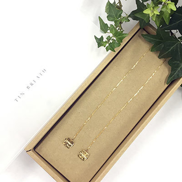 【全国送料無料】TIN BREATH Lariat 10×10×820mm Gold