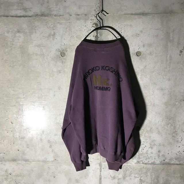 [HIROKO KOSHINO] mode purple designed sweat