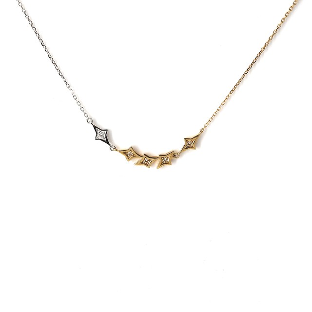 2 Colors Star Necklace