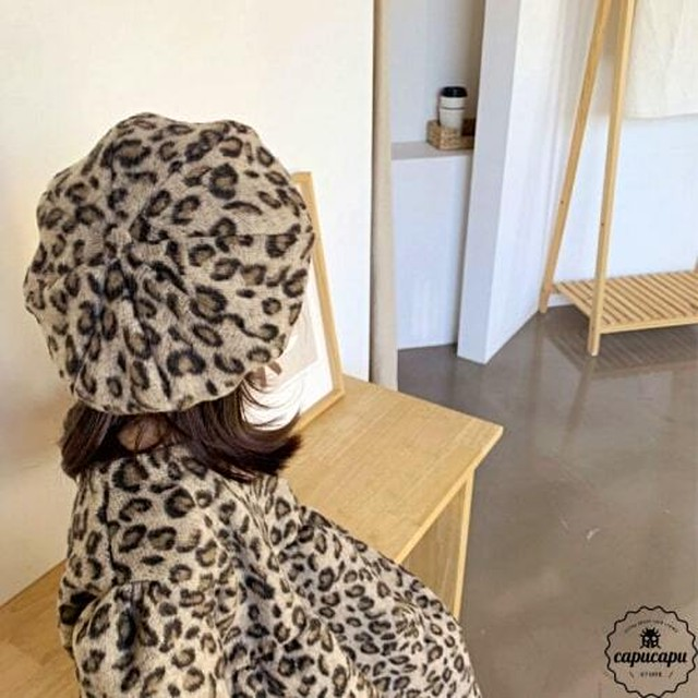 «sold out» leopard beret hat 2colors レオパードベレー帽