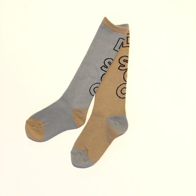 【再入荷しました】【21SS】フランキーグロウ (frankygrow) DISCO SOCKS[ S / M / L ]brown-NY×gray-NY ソックス 靴下