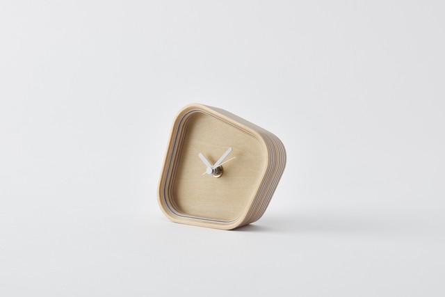 rotation-blue(再生紙合板×置き時計)