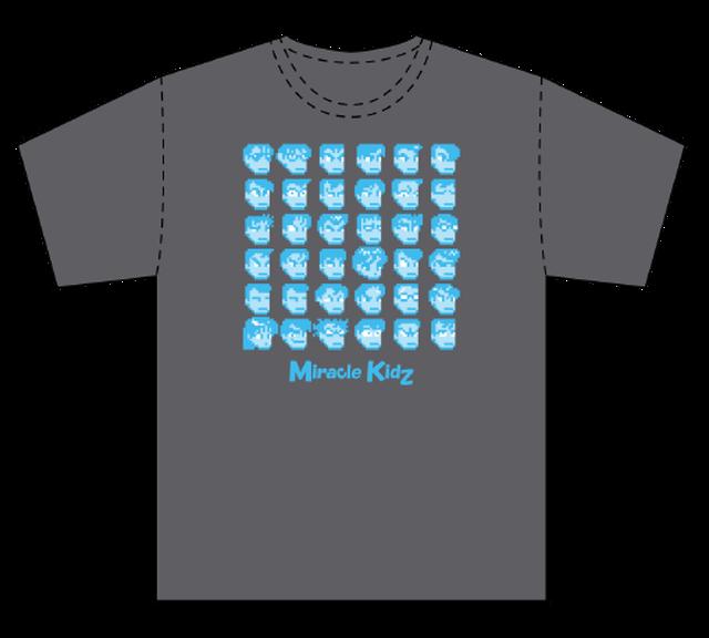 [新品] [アパレル] ダウンタウン全員集合Tシャツ カラー08:愛久野チャコールすぺしゃるブルー / ミラクルキッズ!