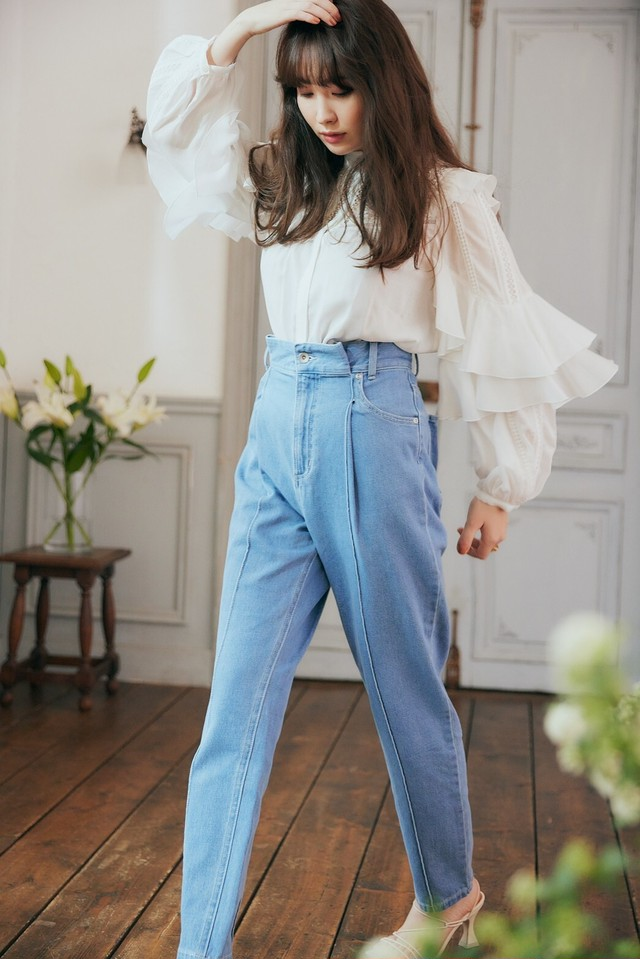 Hight Waisted Straight Jeans