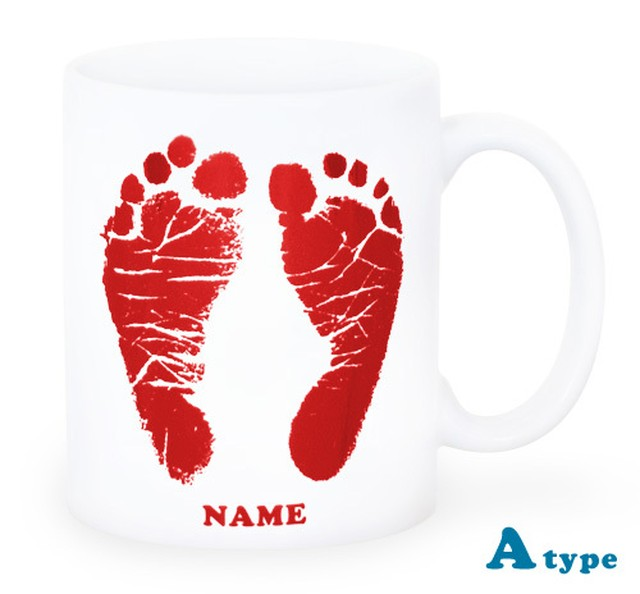 ai mug-white   A-type (BROWN) QRコード付き