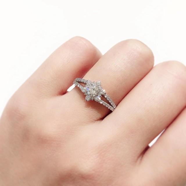 プラチナ ダイヤモンドリング