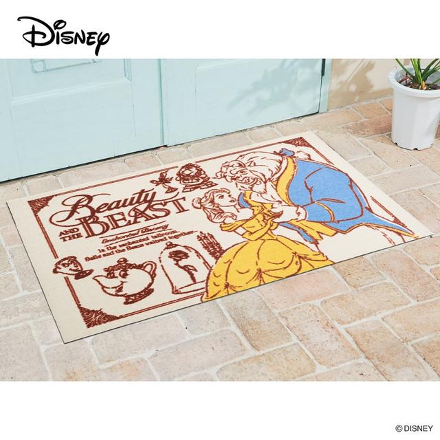 Disney Mat Collection 玄関マット Disney ディズニー美女と野獣 75 × 120 cm