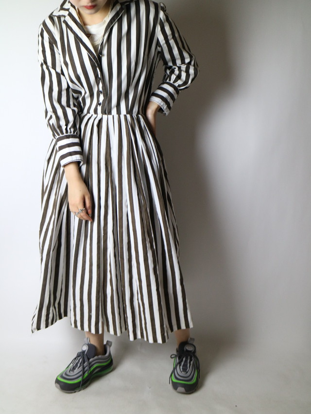 stripe pattern dress【1138】