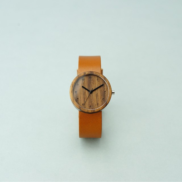 Walnut wood - Organic leather Honey - M