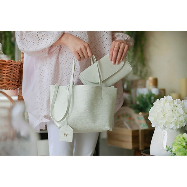 Premium Shrink Leather Mini Tote (イニシャルミニトート)