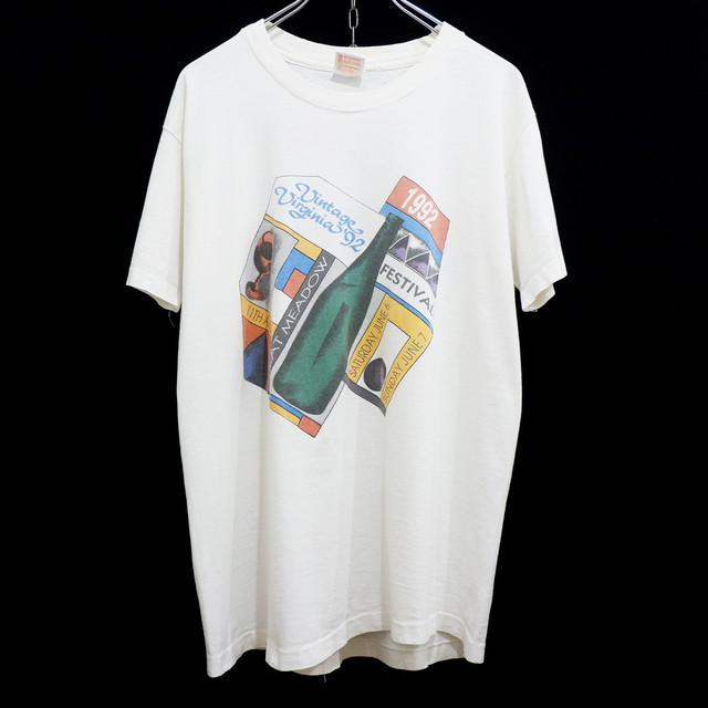 """アメリカ古着 1992s USA製 vintage """"wine festival"""" Tシャツ"""