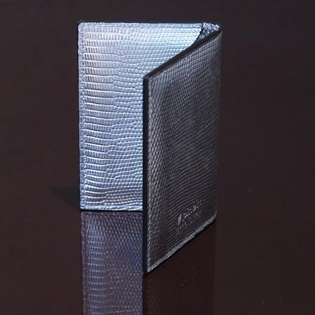 TEBE SILVER / PINETTI DOUBLE BUISINESS CARD HOLDER CREAM(テーベ シルバー / ピネッティ ダブルビジネスカードホルダー)