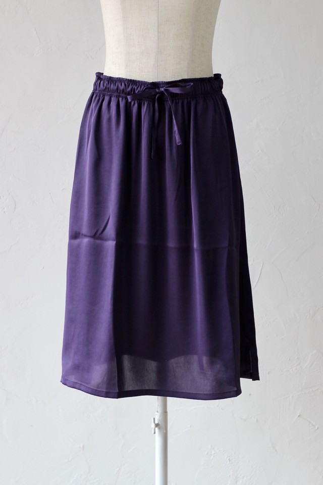 【Needles】string skirt-poly sateen-purple