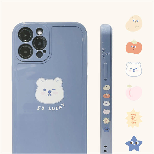 Side lucky bear iphone case