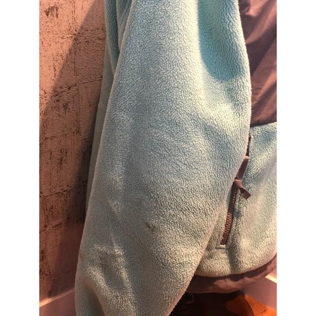 TNF mint green boa fleece