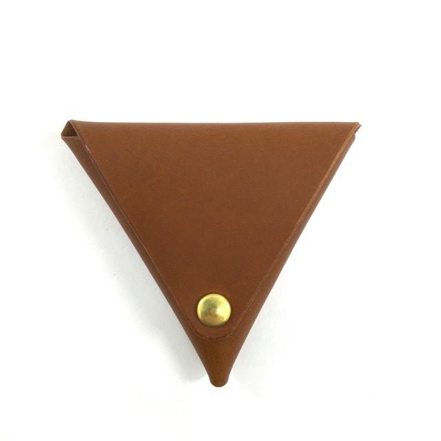 三角コインケース【キャメル】