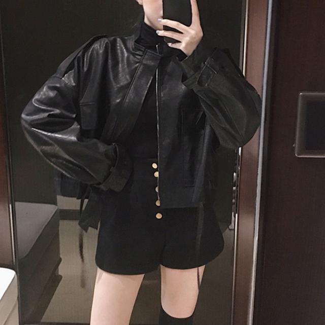 Street style leather jacket LD0281
