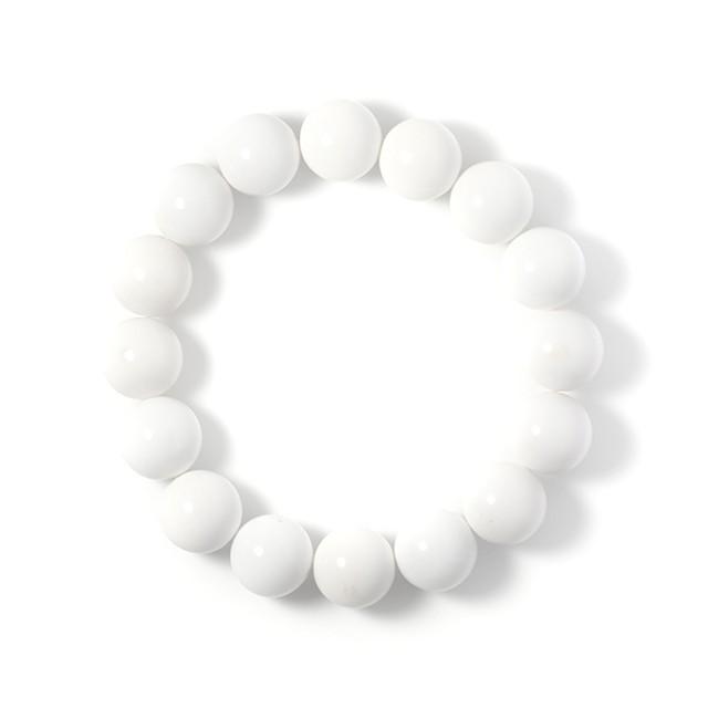 ホワイトオニキス 12mm パワーストーンブレスレット