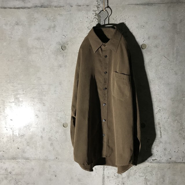 [used] design pointed brown shirt