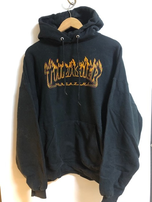 (USED COLLECTION ) US版 THRASHER  HOODIE XLサイズ