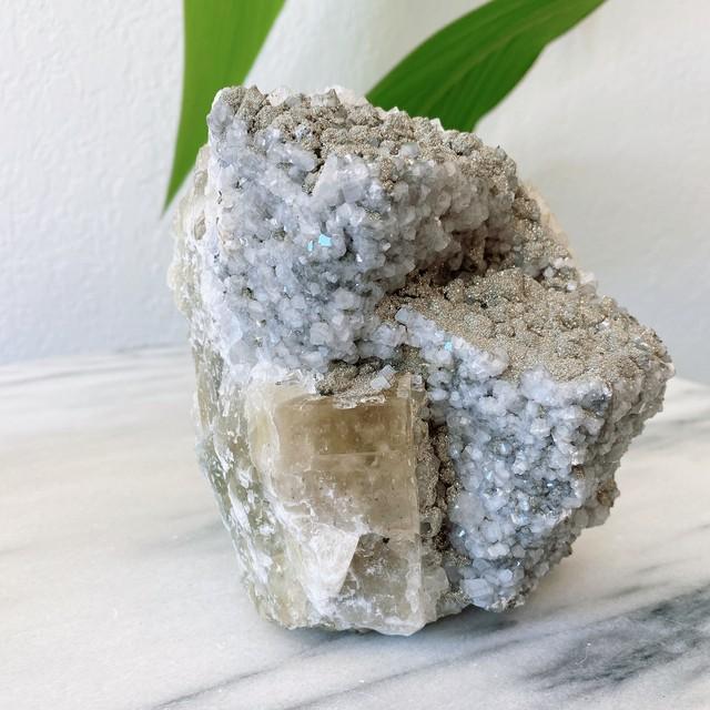 インテリアDecor シトリン、フローライト、ミックス母岩 天然石 原石