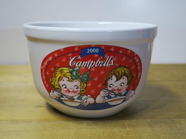 キャンベル スープ ボウル 赤 スープ柄