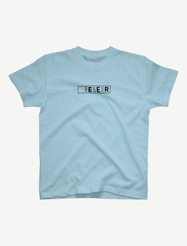 【□EER】Tシャツ(ライトブルー)