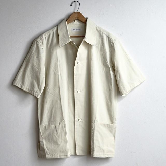 【the Sale!  30%off 】THE HINOKI ザ・ヒノキ  パラシュートクロス半袖シャツ アイボリー (メンズ)