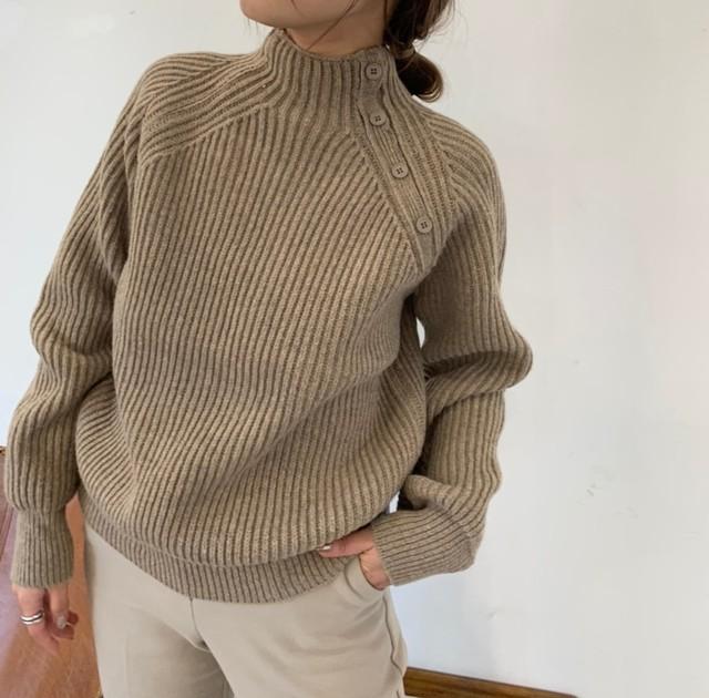 buttan line knit