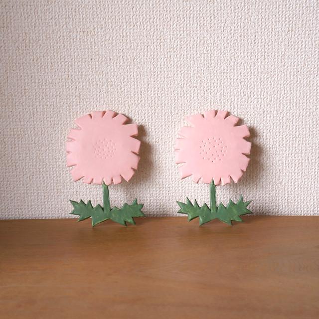 お花の壁飾り pink flower