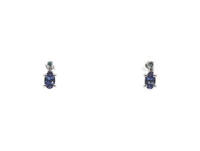 ベニトアイト&パライバピアス|B0.53 P0.02 D0.02|Pt900