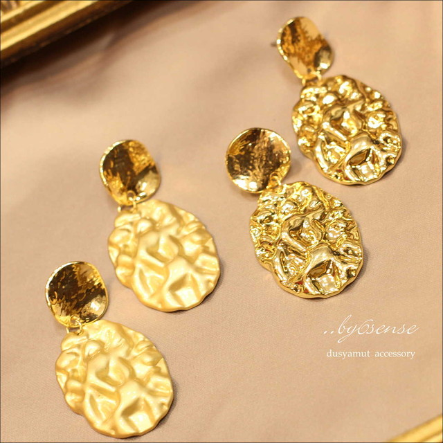 metalpierce mattegold OR  gold【040804】..by6sense piace