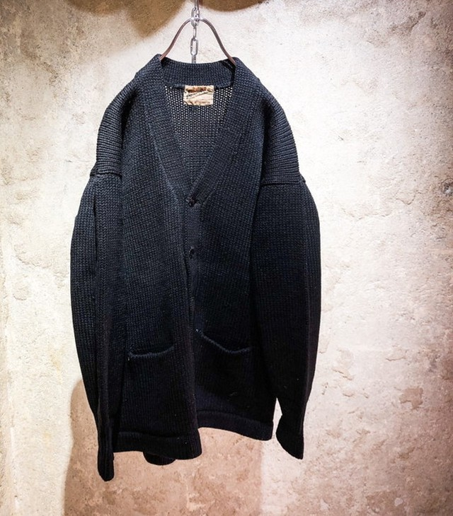 60's lettered cardigan