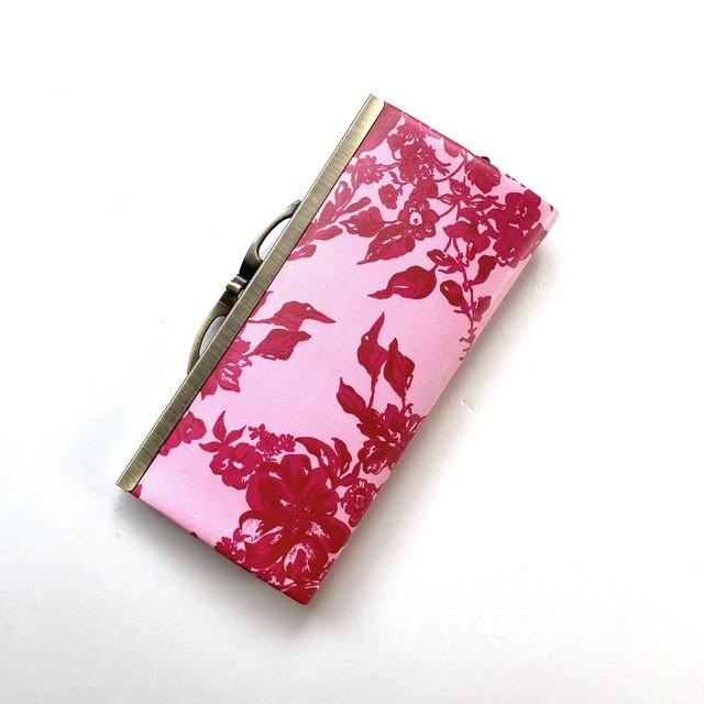 北欧デザイン 牛革がま口復刻長財布 | stella pink