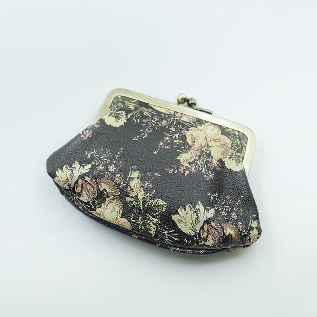 【秀和 x pink india】牛革親子がま口財布 svea flower