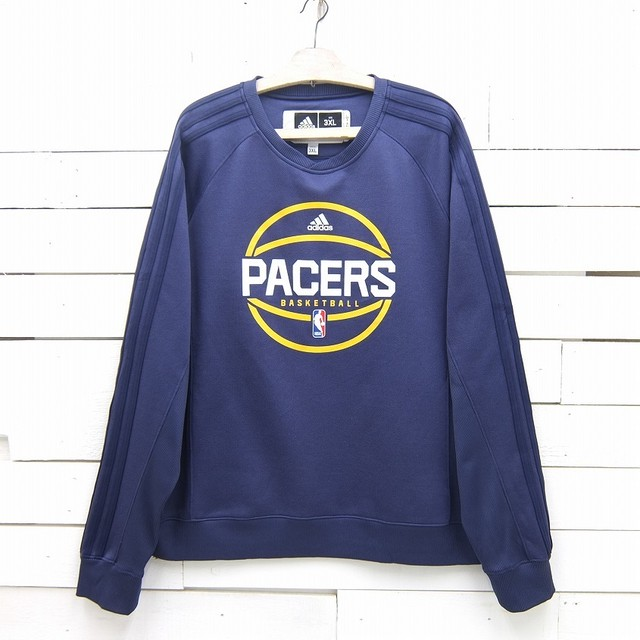 adidas アディダス NBA PACERS インディアナ・ペイサーズ バスケットボールチーム プリント トレーナー メンズ 3XLサイズ