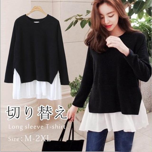 【tops】ハイネックレトロ暖かい定番商品Tシャツ 23116449